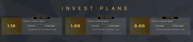 Инвестиционные планы Tazobit