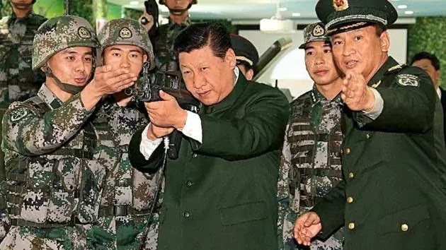 chinese premiere Xi-Jinping With the PLA in LAC