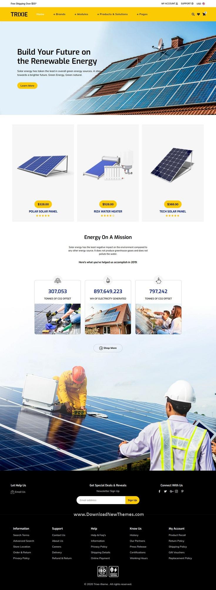 Solar Responsive Shopify Template