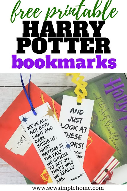 Download and print these free Harry Potter bookmark printables for your Harry Potter readers.