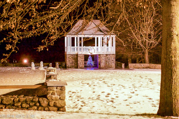 Schroon Lake, NY gazebo at Christmas