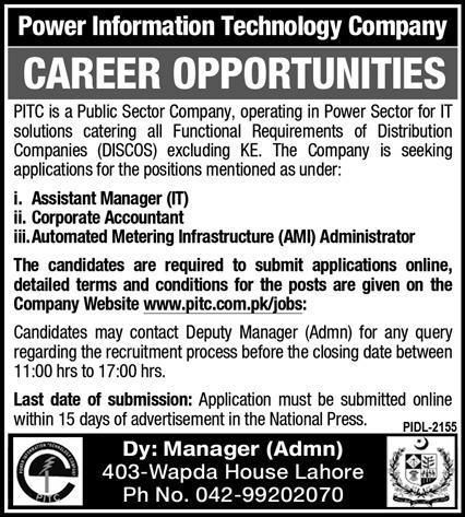 Power Information Technology Company Jobs 2021 - PITC Jobs 2021 - Online Apply - www.pitc.com.pk/jobs