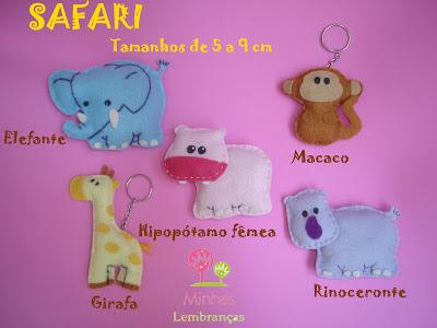 safari-feltro-lembrancinha-brinde-aniversário-infantil-safári