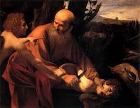 Abraham tötet seinen Sohn Isaak