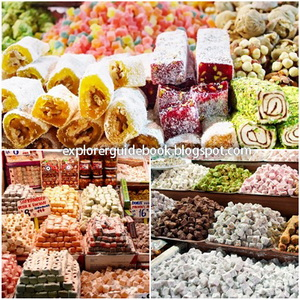 Makanan Turki Istambul Turkish delight