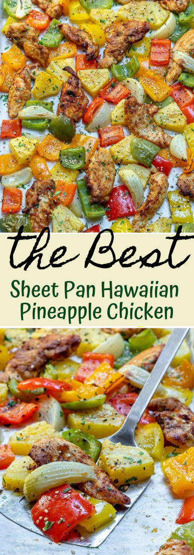 Sheet Pan Hawaiian Pineapple Chicken #dinnerrecipe #food #amazingrecipe
