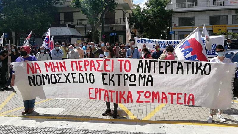 Αλεξανδρούπολη: Νέα μαχητικά συλλαλητήρια των Σωματείων ενάντια στο αντεργατικό νομοσχέδιο