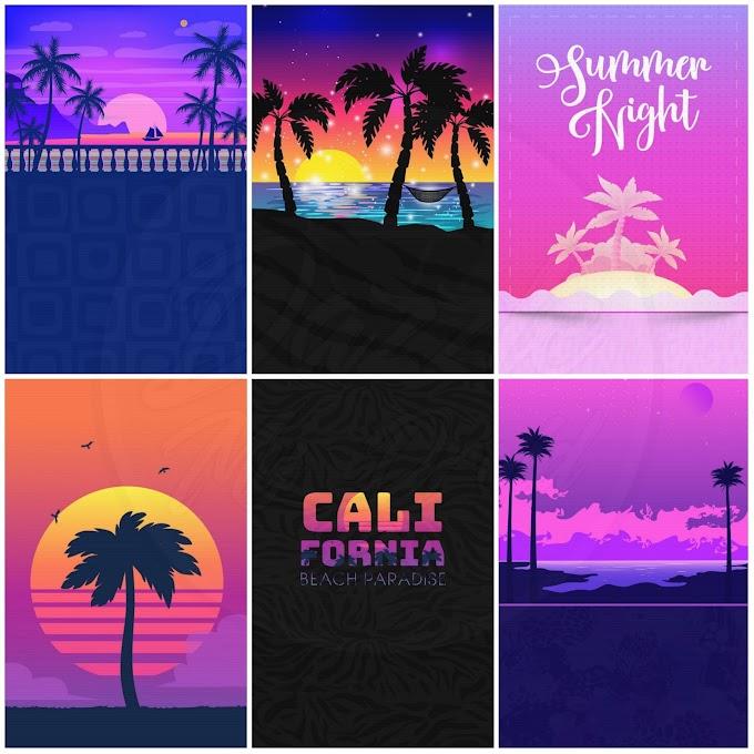 Tropical Sunset Wallpaper Bundle