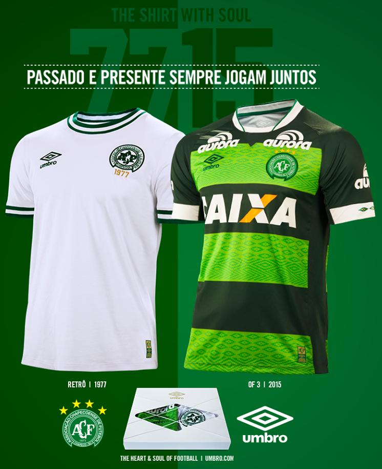27483166f9841 Umbro lança as novas camisas da Chapecoense - Show de Camisas