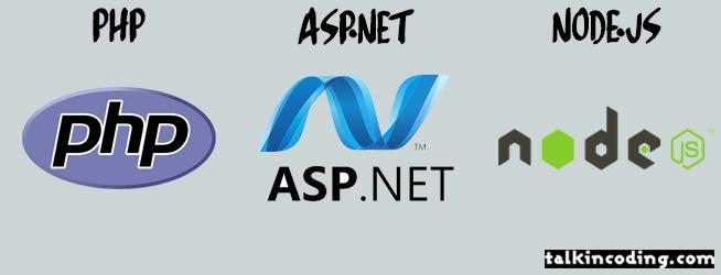 php asp.net node.js