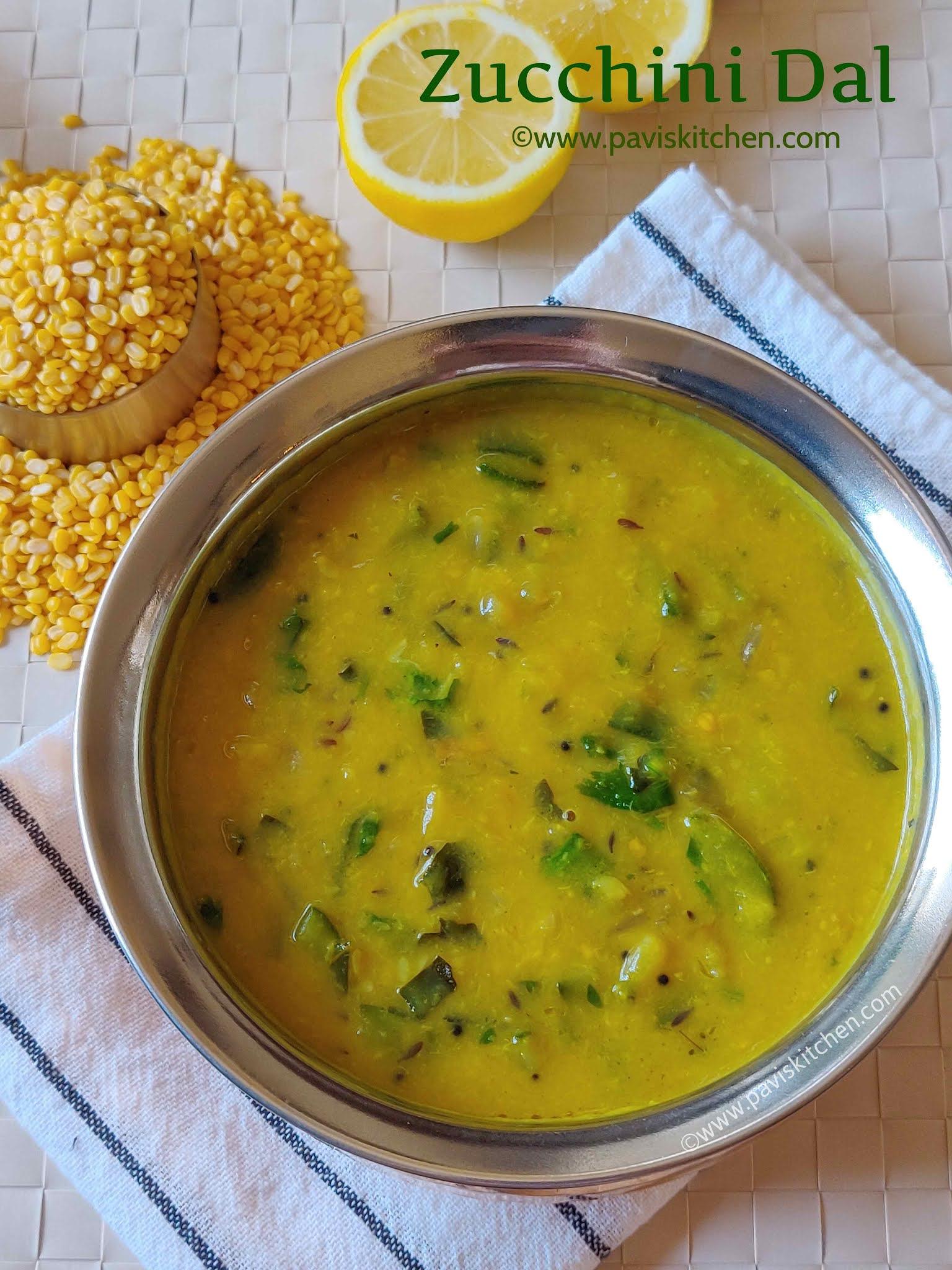 Zucchini dal recipe   Indian zucchini kootu   zucchini lentil curry