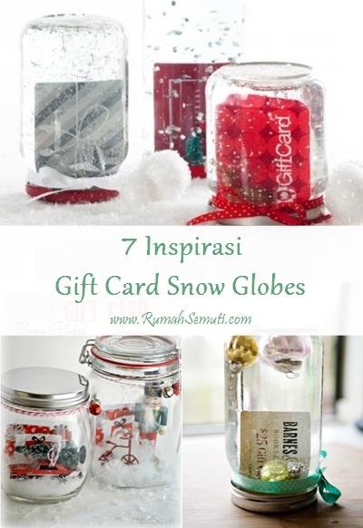 7 Inspirasi Gift Card Snow Globes