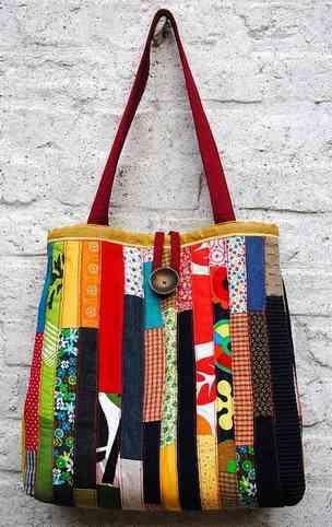 Big bag feita de retalhos pequenos