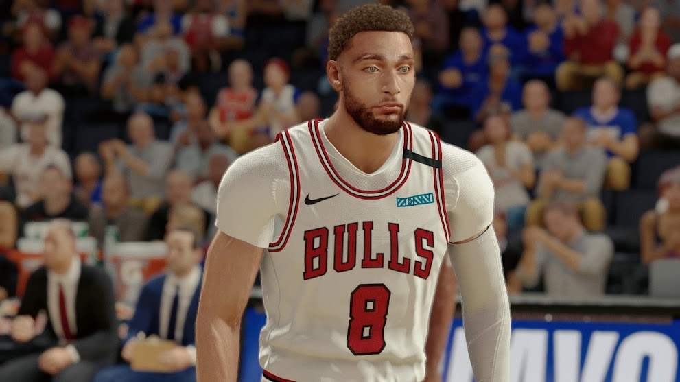Zach LaVine Cyberface and Body Model With Short Sleeve By wingzGulahabIIT [FOR 2K21]