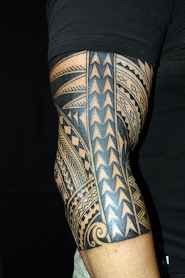 Latest Polynesian Tattoo design on Arms