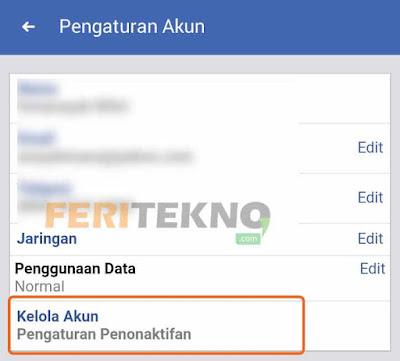 cara menonaktifkan akun facebook 4