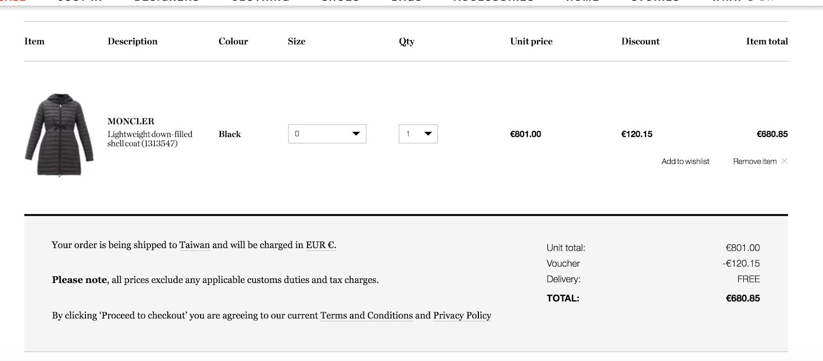 【網購教學】精品電商 Matchesfashion 購物教學/折扣碼/註冊/結帳/關稅/運費/退貨 - Celine C琳