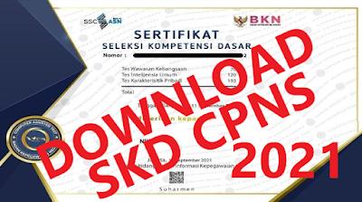 Link Alternatif Download Sertifikat SKD CPNS Tahun 2021