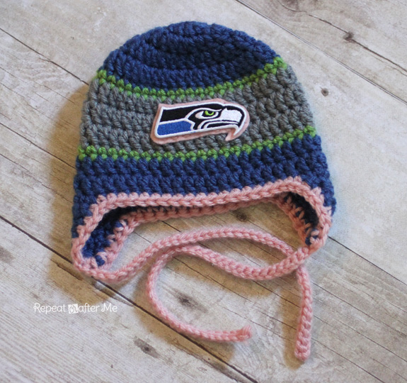 Crocheted Sports Team Beanies Repeat Crafter Me