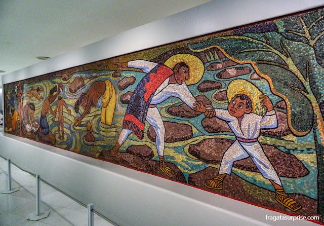 """""""Banho de Rio"""", mural de Diego Rivera no Museu Soumaya, na Cidade do México"""