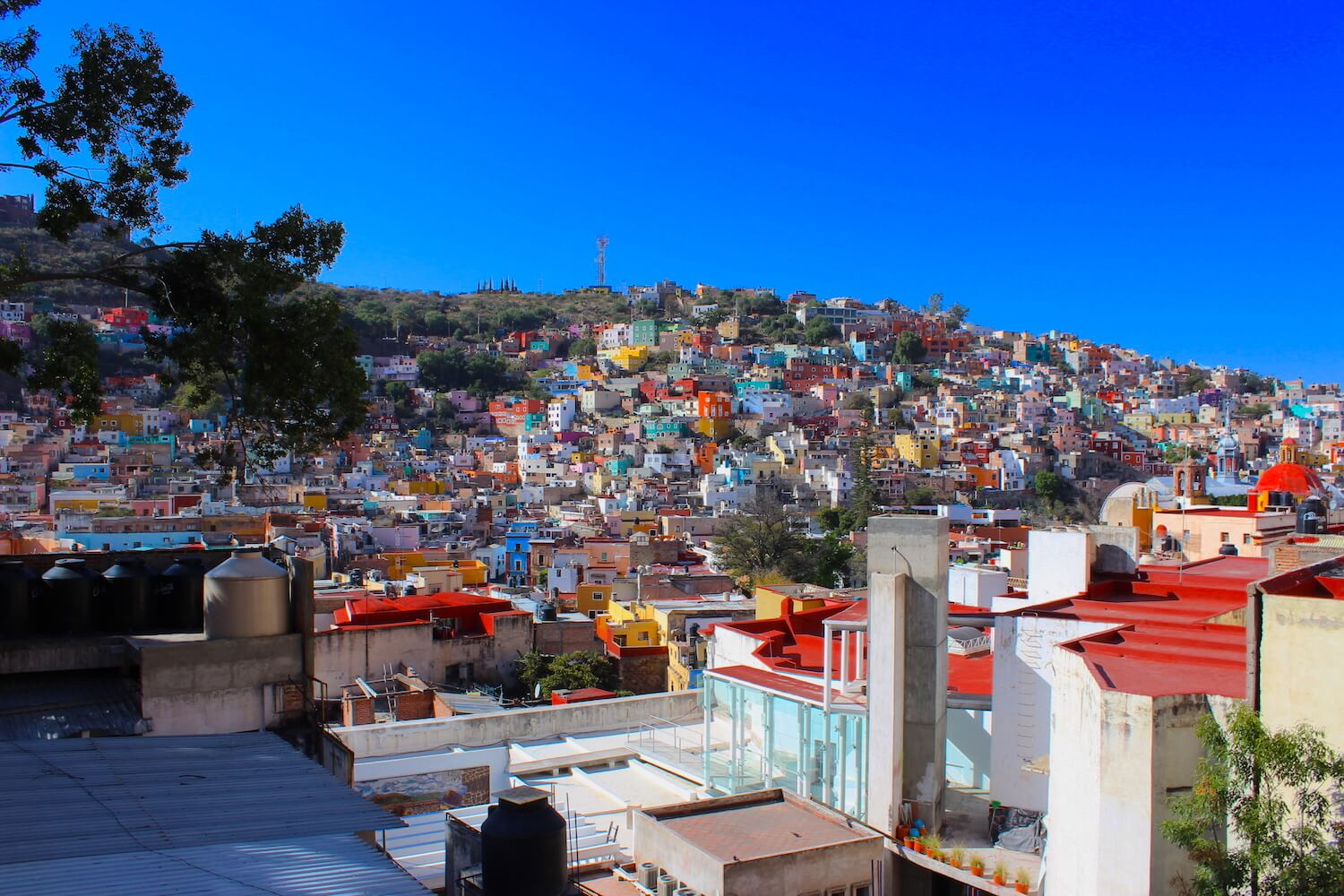 guanajuato hotel rooftop view of city panorama