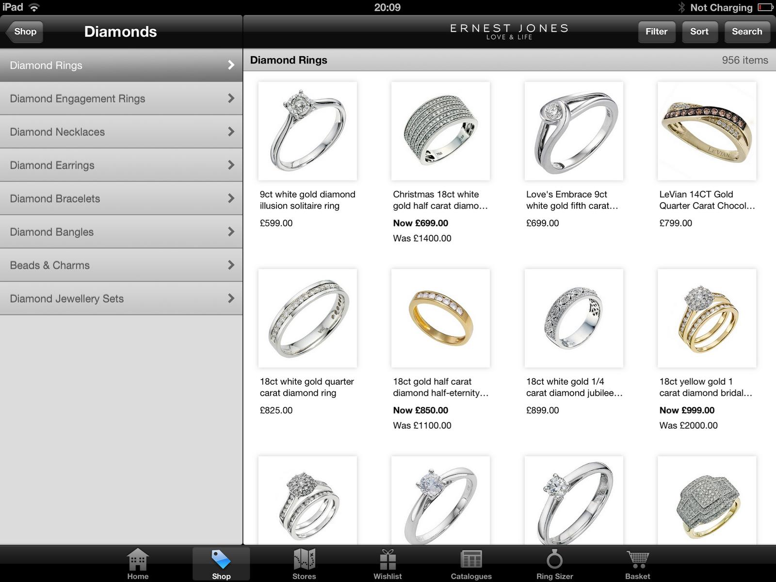Ernest Jones Diamond Rings Sale