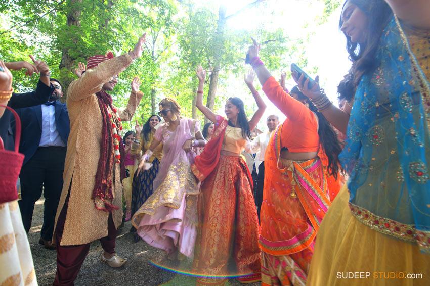 Outdoor Indian Wedding Baraat Ceremony at German Park Kerala South Asian SudeepStudio.com Ann Arbor Indian Wedding Photographer