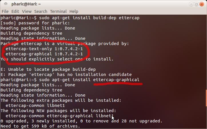 Technoric: Installing ettercap on Linux