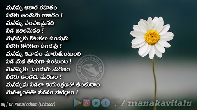 Heart and Shadow Quotes in Telugu