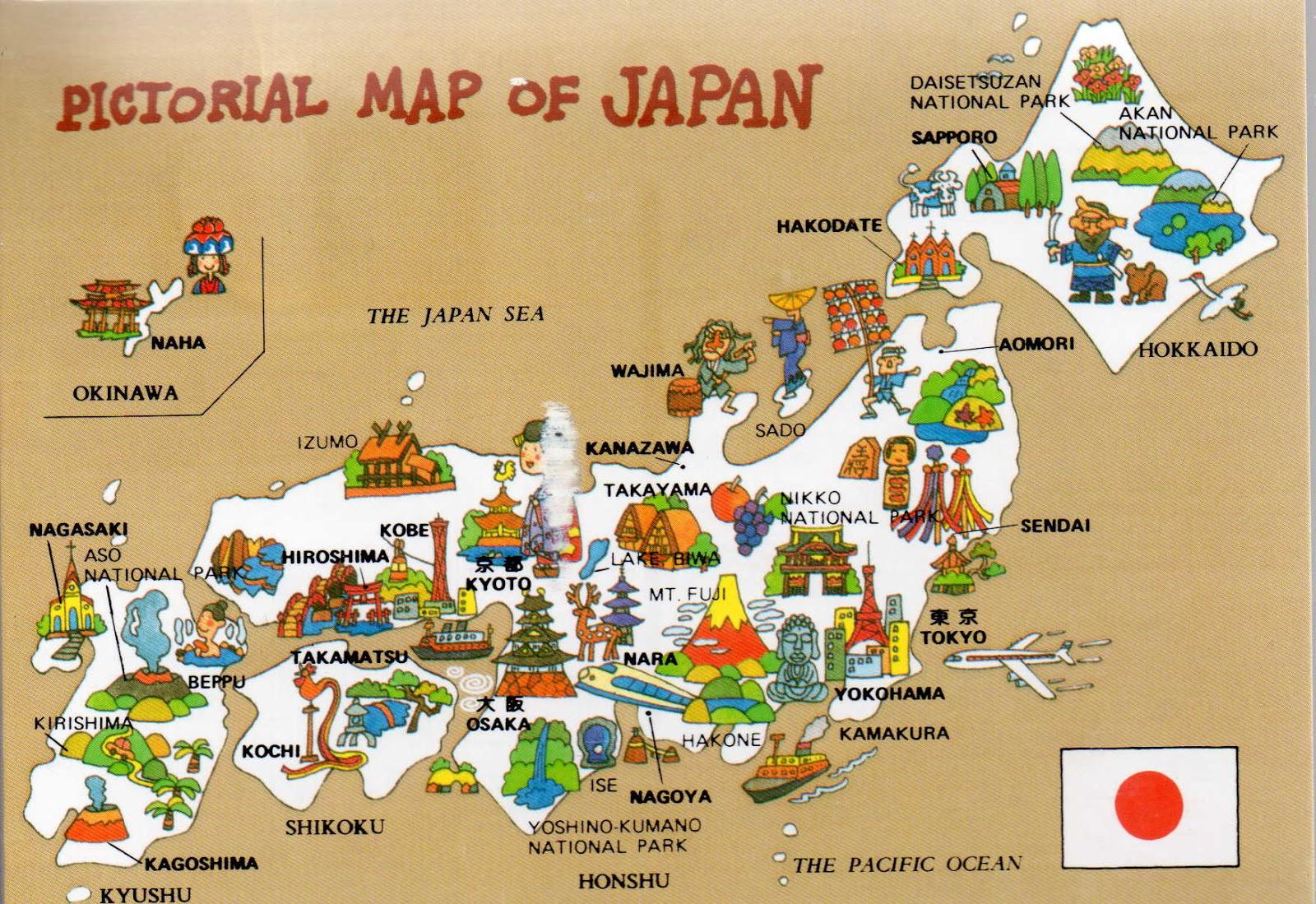 Scriptor S Postcards A Map Of Japan
