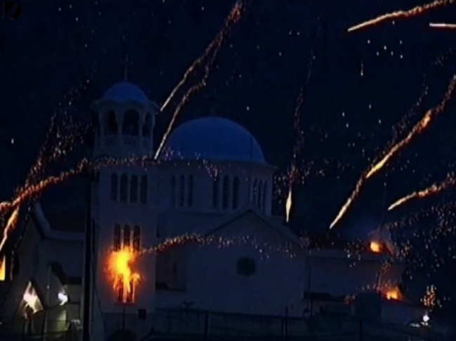 Firework Battle - Chios, Yunani