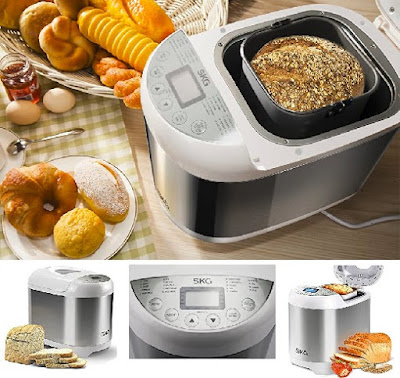 SKG Bread Maker - Automatic 2LB Multifunctional Wheat Machine
