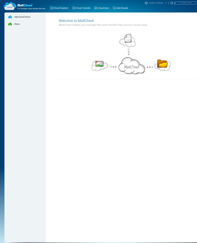 كيفية مزامنة و نقل البيانات بين خدمات التخزين السحابية المتعددة مجانًا مع MultCloud