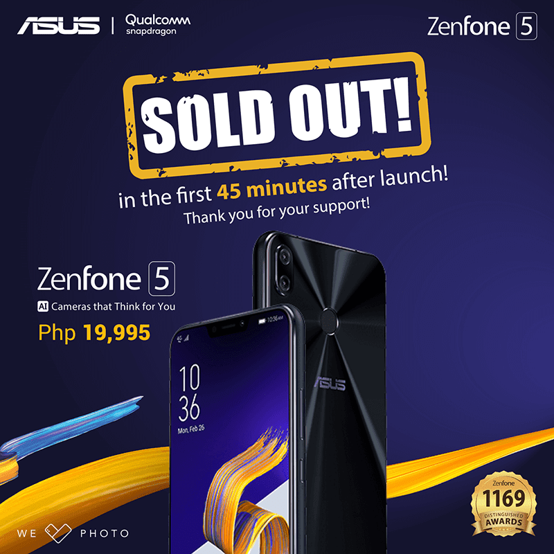 ASUS ZenFone 5 gets sold out with 45 minutes