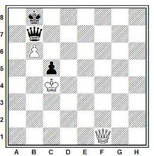 Estudio artístico de ajedrez compuesto por G. Werner (2º Premio, KSFAH, 1997)