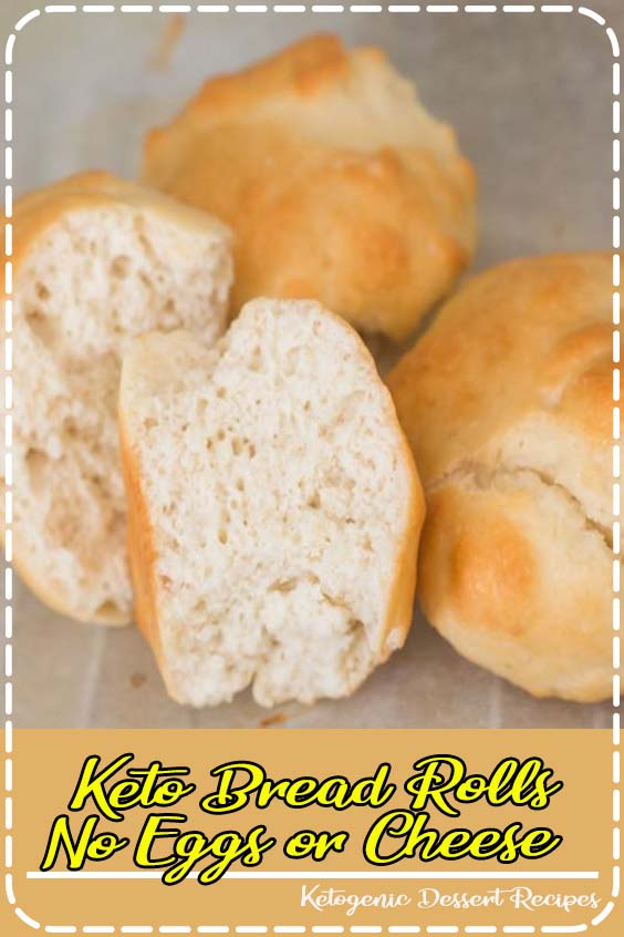 These dinner rolls are not made with eggs OR cheese and taste incredibly close to regular Keto Bread Rolls - No Eggs or Cheese