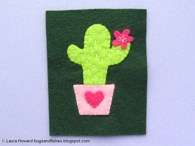 Felt Cactus Brooch Tutorial: add the flower