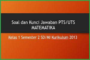 Download Soal dan Kunci Jawaban PTS/UTS MATEMATIKA Kelas 1 Semester 2 SD/MI Kurikulum 2013