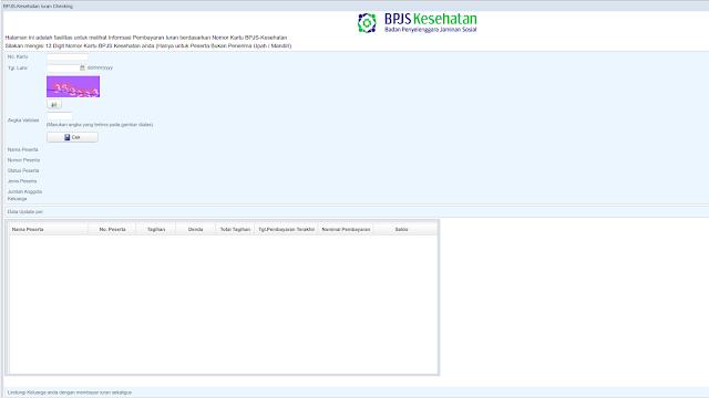 Website Cek Tagihan BPJS Kesehatan