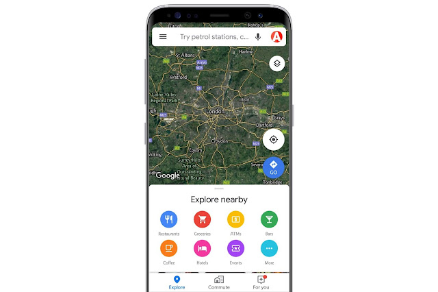 Explore NearBy On Google Maps