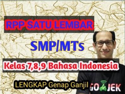 Download- rpp- 1- lembar –bahasa- indonesia -smp -kelas -7- 8 -9 -semester -1- dan- 2