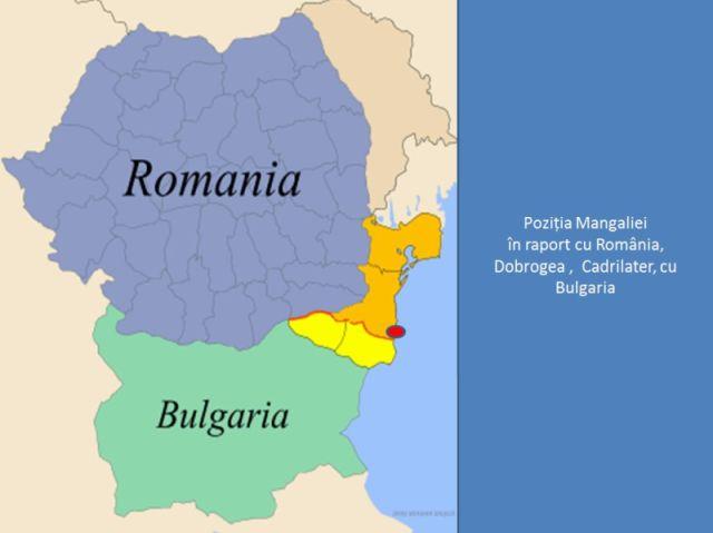 Pozitia Mangaliei in raport cu Romania