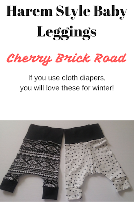 Use Cloth Diapers? You'll LOVE these harem style leggings for winter!