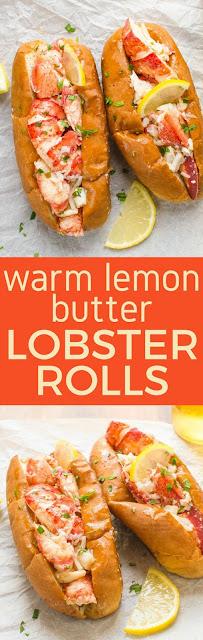 Warm Lemon Butter Lobster Roll