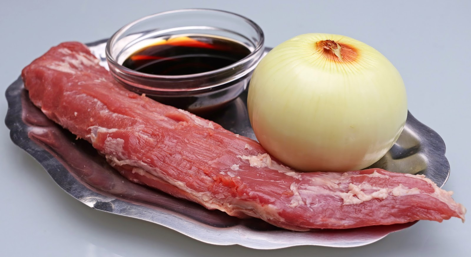 Ingredientes para solomillo con fresas confitadas