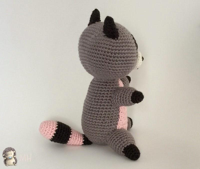 mapache amigurumi