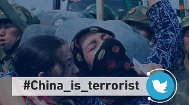 Tagar #China_is_terrorist Mendunia Hingga Tembus 647rb Tweet