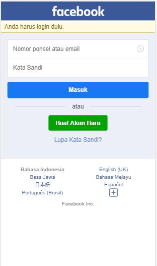Gambar login mengubah tanggal lahir facebook yang sudah limit