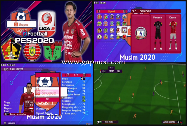 PES 2020 Jogress PPSSPP V3.5 Update Transfer 2020 Liga 1 Indonesia
