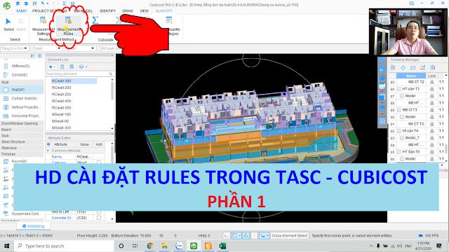 Hướng dẫn cài đặt Measurement Rules trên Cubicost -Tasc (quy tắc khấu trừ) - P1  Thầy Mai Bá Nhẫn